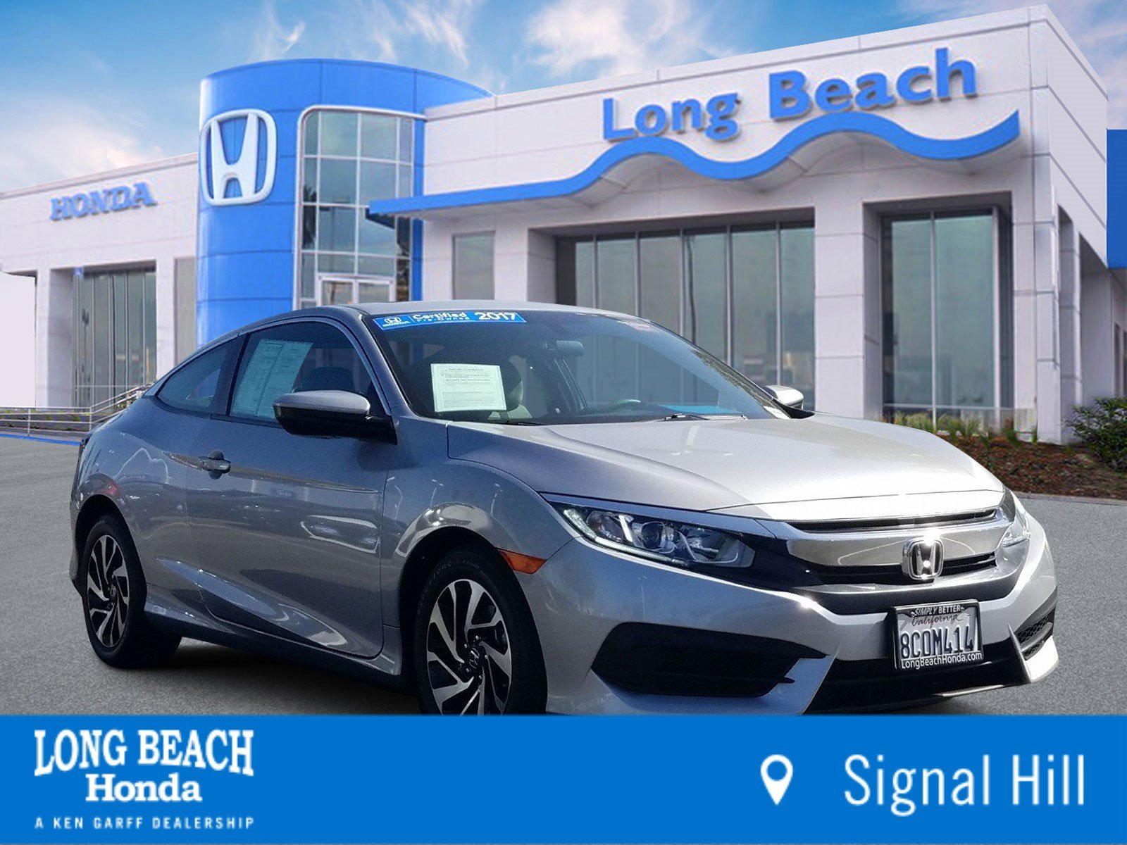 Certified Pre-Owned 2017 Honda Civic Coupe LX-P